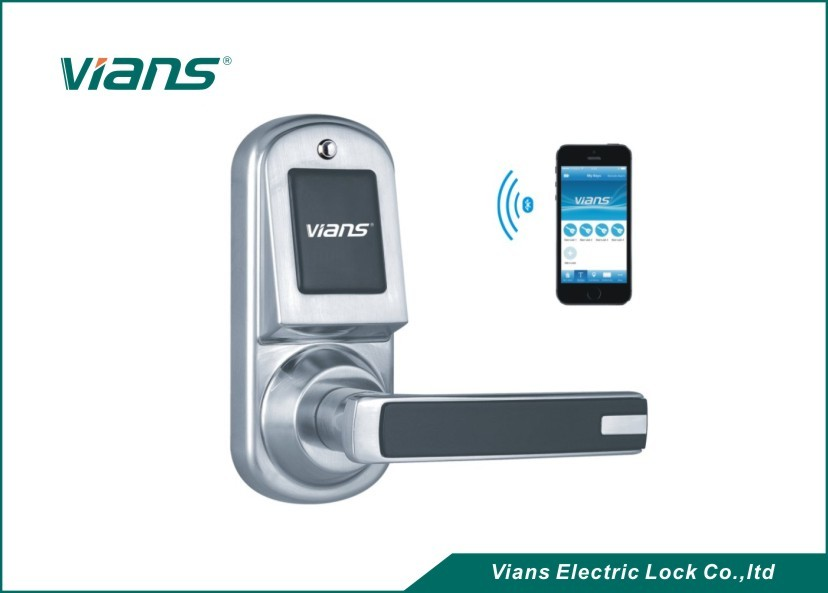Safety Bluetooth Wireless Front Door Lock , Smartphone Controlled Door Lock